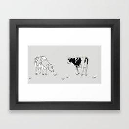 Dairy Cows Framed Art Print