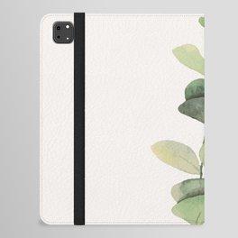 Watercolor Eucalyptus Branch iPad Folio Case