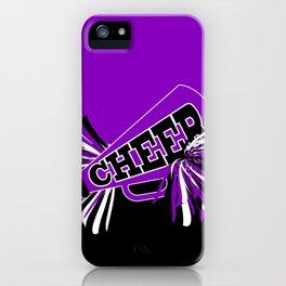 Purple, Black and White Cheerleader Design iPhone Case