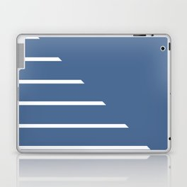 Half Stripes White and Riverside Laptop & iPad Skin