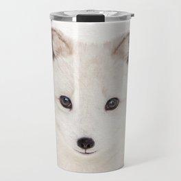 Baby Fox, Baby Animals Art Print By Synplus Travel Mug