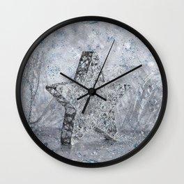 SilverStar ornament  Wall Clock