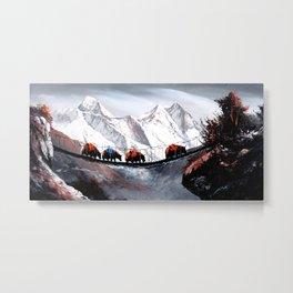 Herd Of Mountain Yaks Himalaya Metal Print
