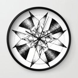 Crystalline Compass Wall Clock