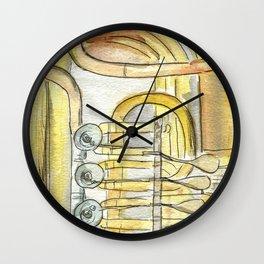 Tuba Tubs Wall Clock