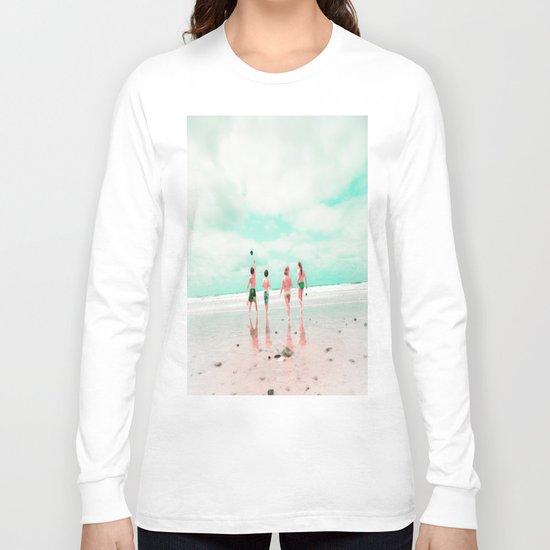 Four & the Beach Long Sleeve T-shirt