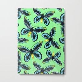 Queen Alexandra' s birdwing butterfly pattern Metal Print