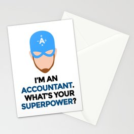Accountant. What's Your Superpower? Stationery Cards