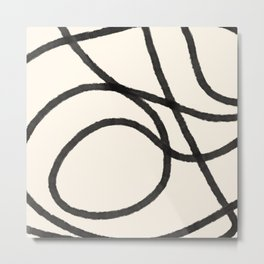 Thick Continuous Line Series 4 | Boho Home Decor, Modern Wall Art, Continuous Line, Minimalist Art Metal Print