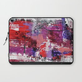 The Chicago Loop: A minimal abstract piece in red, black, and purple by Alyssa Hamilton Art  Laptop Sleeve