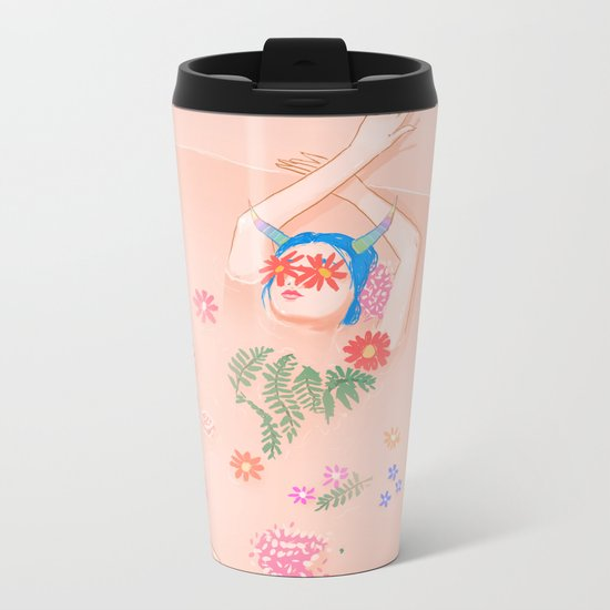 Flower Bath Metal Travel Mug