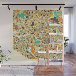 Melbourne Map Wall Mural