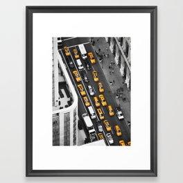 Yellow Cab NYC Framed Art Print