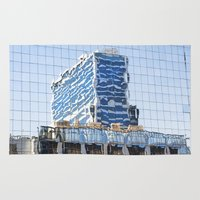 buildings Area & Throw Rugs featuring Twisted Buildings by davehare