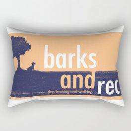 Barks and Rec Logo Rectangular Pillow