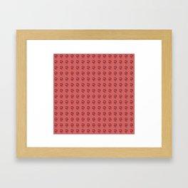 Jeff Goldblum Pattern Red Framed Art Print