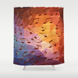 Music Notes Iii Shower Curtain