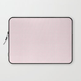 Soft Pastel Pink and White Hounds Tooth Check Laptop Sleeve