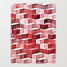 Pink Granite Poster
