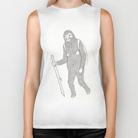 hiking Biker Tanks featuring Hitch Hiking by veronika
