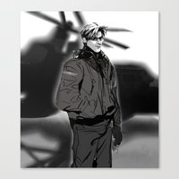 hetalia Canvas Prints featuring hetalia pilot America by Hellacrappy