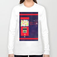 gumball Long Sleeve T-shirts featuring Super Moon Gumball Machine by Mel Moongazer