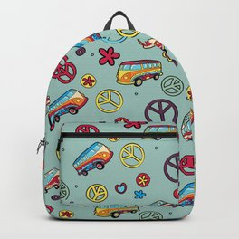 Retro  Hippie  Pattern 1 Backpack