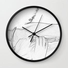 Head Shoulder and Hands Wall Clock
