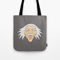 einstein Tote Bags featuring Einstein by martinashdesign