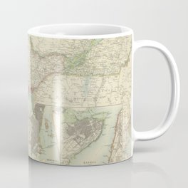 Vintage Map of Ontario and Quebec (1912) Coffee Mug