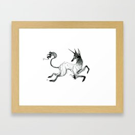 Demon Unicorn Framed Art Print
