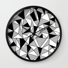 Ab Lines with Black Blocks Wall Clock