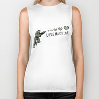 master chief Biker Tanks featuring Love Machine - Master Chief - Halo by Canis Picta