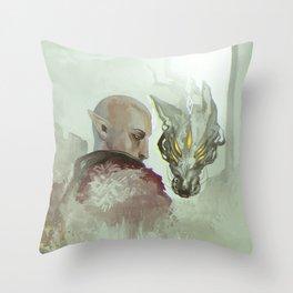 He Walks Alone Throw Pillow