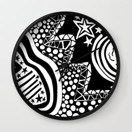 Soul Of The Dream Desert - Star Gazer (Black and White Edition) Wall Clock