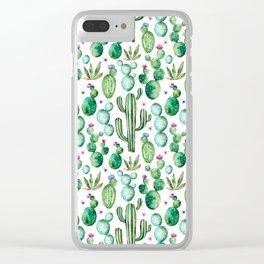 Cactus Oh Cactus Clear iPhone Case