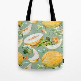 Honeydew Melon Pattern Tote Bag