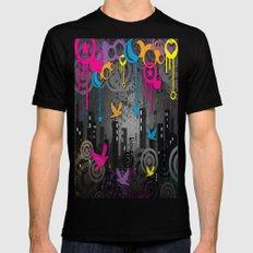 Vector City Grunge. MEDIUM Mens Fitted Tee Black