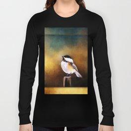 Chickadee in Morning Prayer Long Sleeve T-shirt