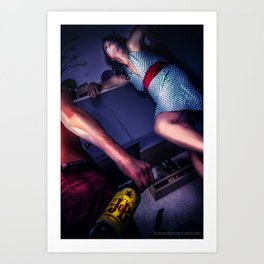The fear of alcohol Art Print