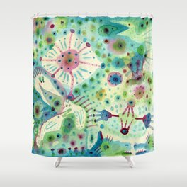 Ink Washes Shower Curtain