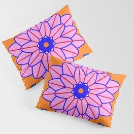Flower Power Orange Vibes Pillow Sham