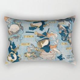 The Samurais Toads Rectangular Pillow