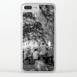 The afternoon gathering Clear iPhone Case