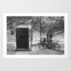 Door & Bicycle Art Print