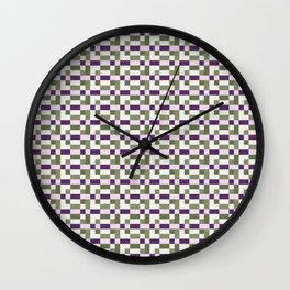 Mauve Green Pastel Mosaic Abstract Wall Clock