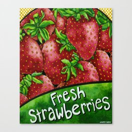 Fresh Strawberries Canvas Print