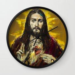 Cor Jesu Sacratissimum Wall Clock