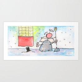 "#cagsticks ""Angel in snowman"" Art Print"
