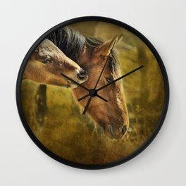 Horsing Around No. 2 - Pryor Mustangs Wall Clock
